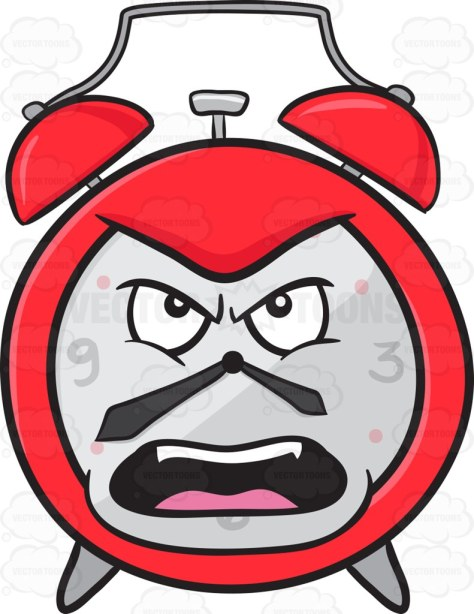 Alarm Clock Looking Outraged And Angry Emoji