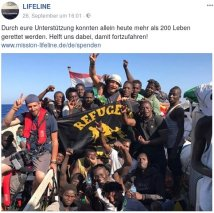 Lifeline 2017-09-26 >200 Gerettete Refugees Welcome