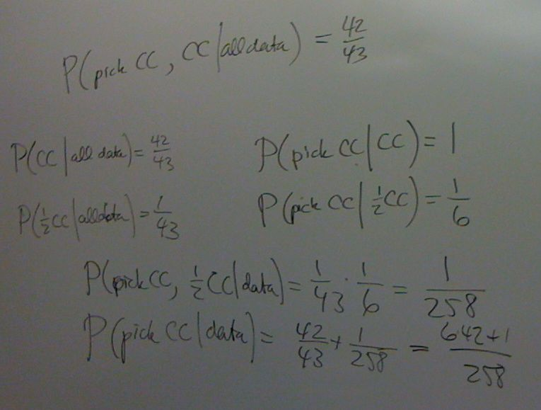 Calculation of the probability of a CC cookie