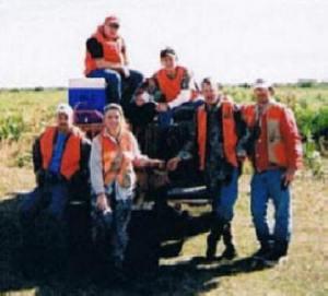 Avon park Bombing Range -- Bert, Missy, Greg, Jim, Eugene and Justin a friend of Eugene's -- 2 hogs for the day