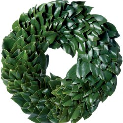 All Green Magnolia Wreath