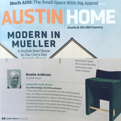 Bay Hill's Brooke Anderson featured in Austin Home