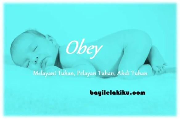 arti nama obey
