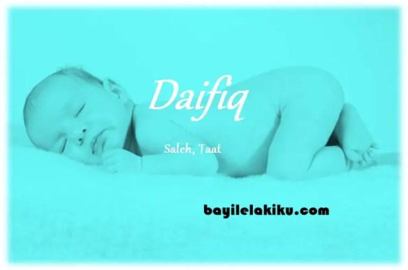 arti nama Daifiq