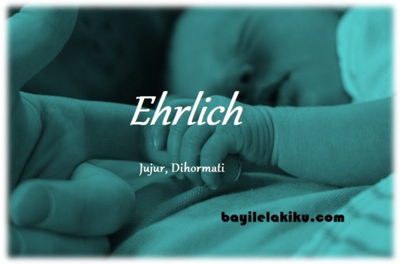 makna nama Ehrlich