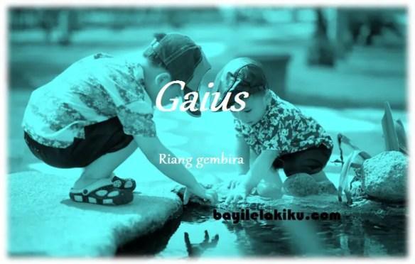 arti nama Gaius