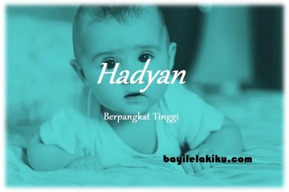 makna nama Hadyan