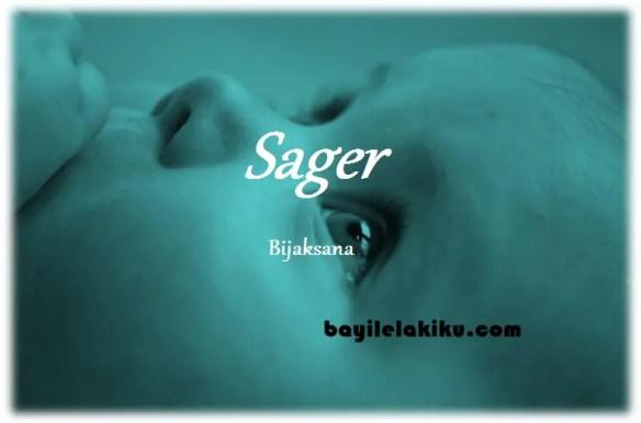 arti nama Sager