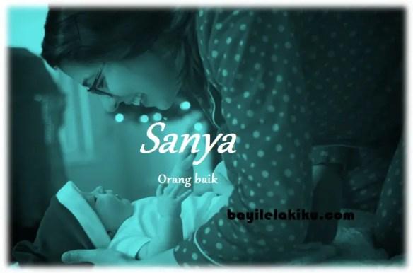 arti nama Sanya