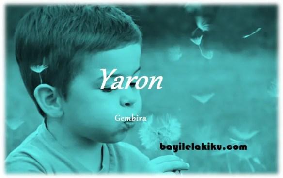 arti nama Yaron