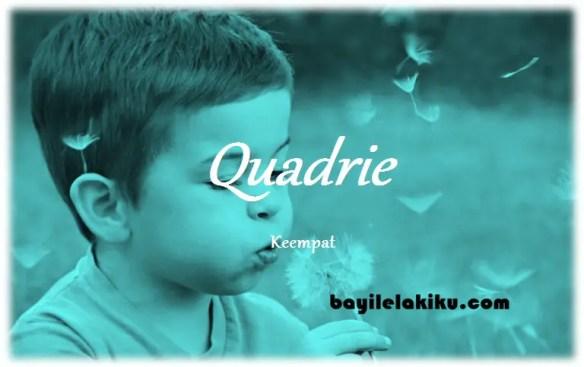 arti nama Quadrie