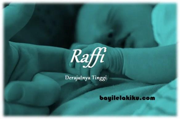 arti nama Raffi