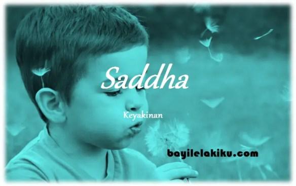 arti nama Saddha