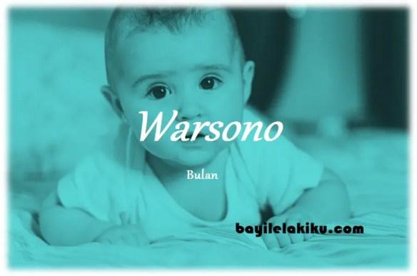 arti nama Warsono