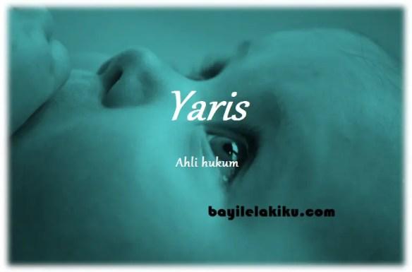 arti nama Yaris