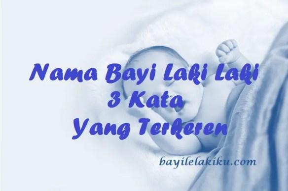 Nama Bayi Laki Laki 3 Kata