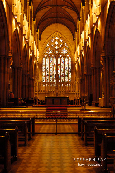 Photo: Inside St. Mary's Cathedral, Sydney, Australia.