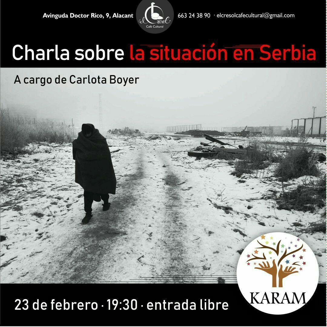 Charla sobre la situación en Serbia, organizada por Karam Alicante