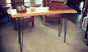 Console Table with Hair Pin Legs