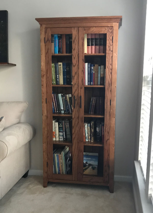 Custom Bookshelf with glass doors