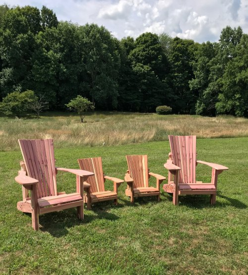 Adult and Kids Adirondack Chairs