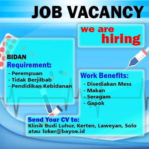 Informasi Loker Bidan Surakarta. Loker yang dapat tempat tidur atau mess
