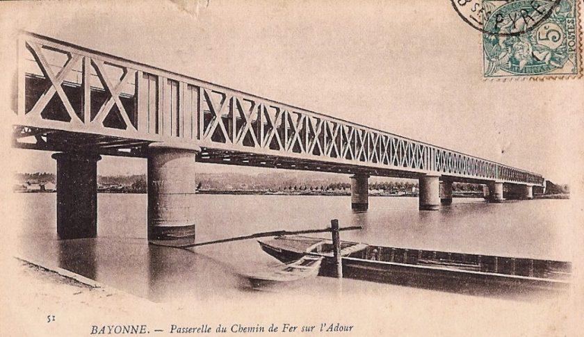 Le pont de fer à Bayonne