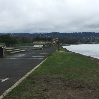 Parking lot on northwest side of Coyote Point Recreation Area that will need to be pushed back for higher sea levels.
