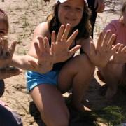 girls planting grasses
