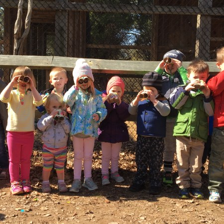 toddlers at CBEC looking through goggles