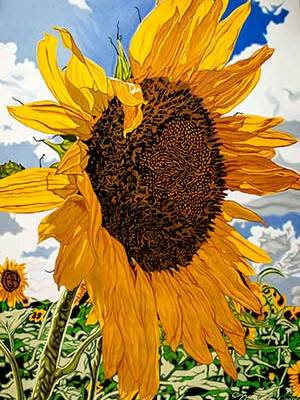 """""""Rays for Days"""" sunflower painting"""