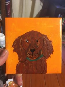 Hand painted dog portrait