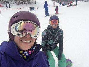 Laurel enjoying the ski season