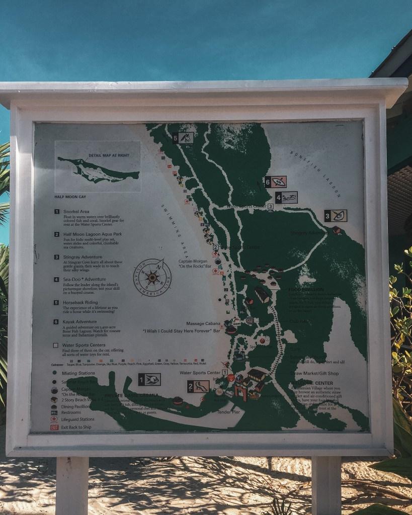Half Moon Cay Map
