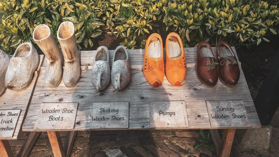 Shoe Display at Keukenhof Gardens