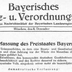 70 Jahre Bayerische Verfassung – Stabilität, Veränderung, Reformbedarf