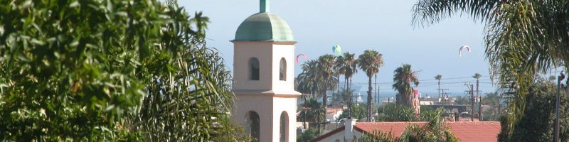 Carillon through palm trees