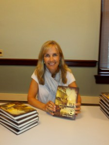 Author Krista Russell signed copies of Chasing the Nightbird.