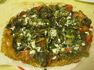 photo of veggie pizza