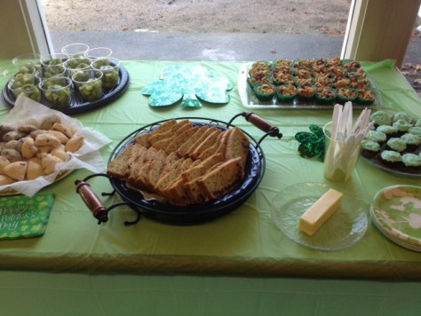 photo of refreshments table
