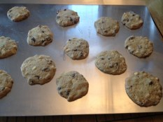 photo of cookies on baking sheet