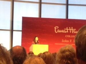 photo of Celeste Ng at podium
