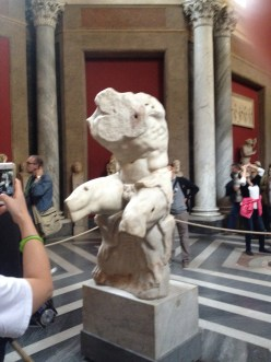The Belvedere Torso, an ancient Greek statue influential to Michelangelo