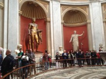Huge statues in the Vatican Museum