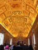 No photography is allowed in the Sistine Chapel, so this is just a minor ceiling in a hallway leading to the chapel.