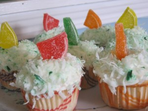 photo of Easter coconut cupcakes