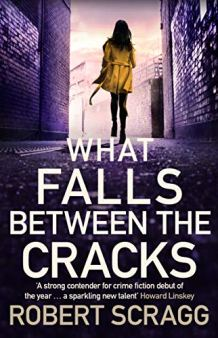 What Falls Between the Cracks - Robert Scragg. Purple Tint of a Woman in Yellow Coat Walking Down Street