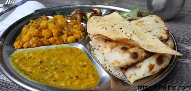 أكل هندي بسيط