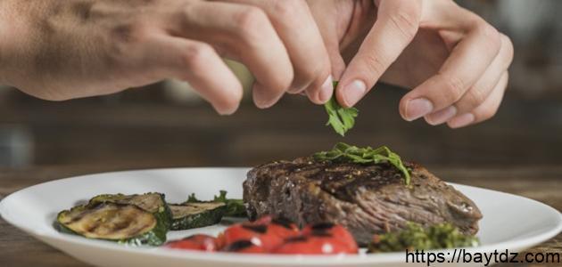 طريقة تزيين اللحم المشوي
