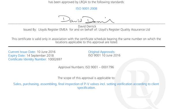 certificate Certificates – do they matter? Quality certificate ISO 9001 LRQA